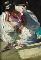 The Rehearsal by Sherree Valentine Daines - Original Painting on Board sized 5x7 inches. Available from Whitewall Galleries